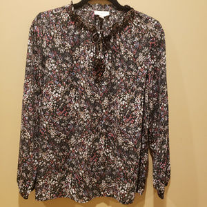 Loft Outlet Floral Peasant Blouse
